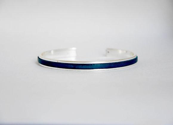 Minimaliste Bleu Lagon Argenté