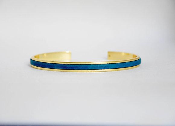 Minimaliste Bleu Lagon Doré