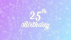 wallpaper 25th birthday a