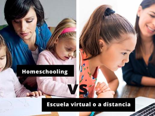 Homeschooling vs escuela virtual