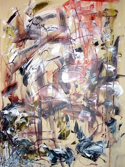 Consistency, 70X100, Acrylic on canvas, 2017, Natalia Gourova