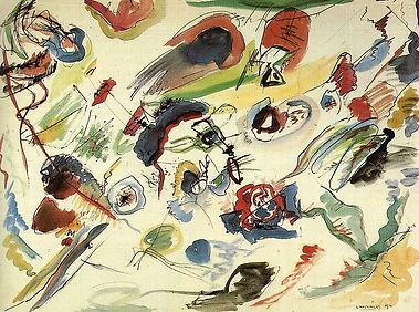 Первая абстрактная акварель. Василий Кандинский.