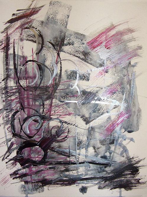 Accord, 35X45, Acrylic on canvas, 2016, Natalia Gourova