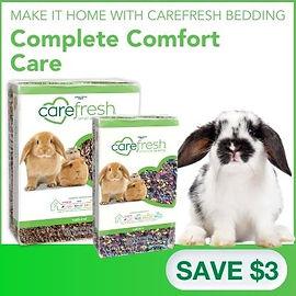 $3 off Carefresh bedding.