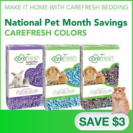 $3 off any size Carefresh bedding.