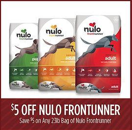 $5.00 OFF 23lb Bags of Frontrunner Dry Dog Food.
