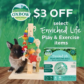 $3 off Oxbow play items.