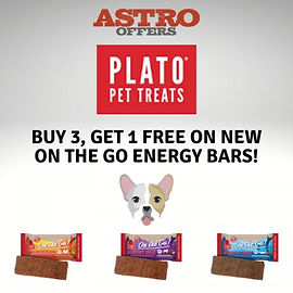 Buy 3, Get 1 FREE on Plato's NEW On The Go Energy Bars
