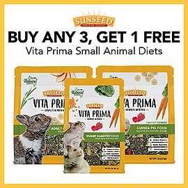 Buy 3 Vita Prima Small Animal Foods, Get 1 FREE (Mixing and Matching permitted)