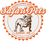 Safari Pets Bulldog Logo