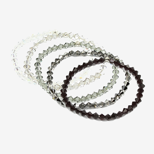 Crystal Bracelets - Black and White
