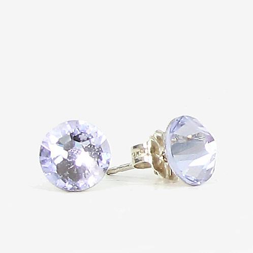 7mm Swarovski Crystal Stud Earrings - Provence Lavender