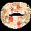 Thumbnail: Hyacinth Peach Adele Cuff bracelet