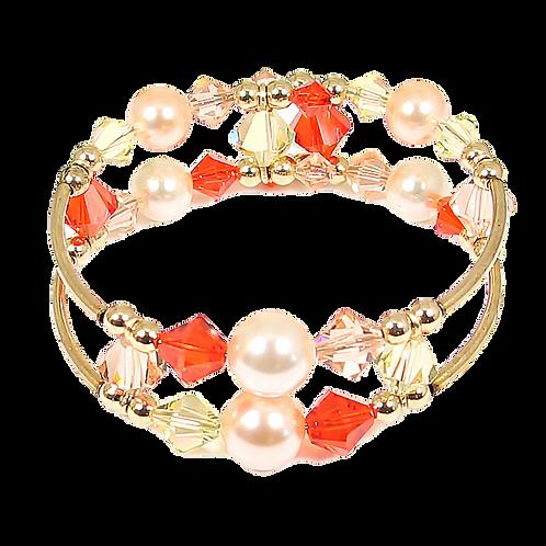 Hyacinth Peach Adele Cuff bracelet