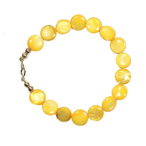 Sunshine Button Pearl bracelet