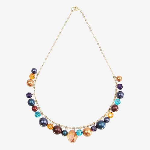 Autumn Mix Charm Necklace