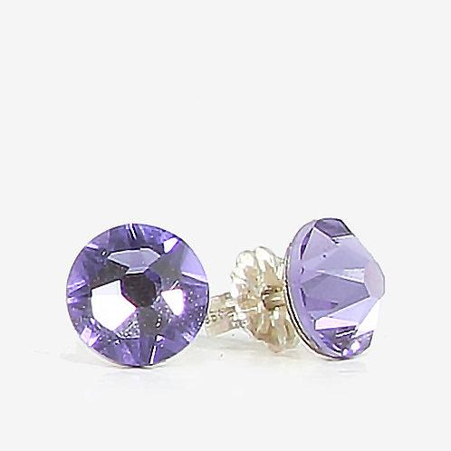 7mm Crystal Stud Earring - Tanzanite