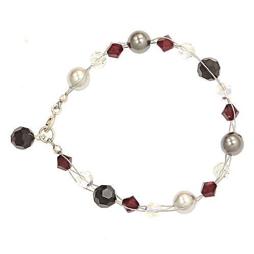 Winter Berry plait bracelet