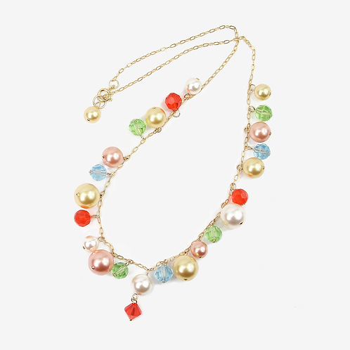 Spring Freesia Charm necklace