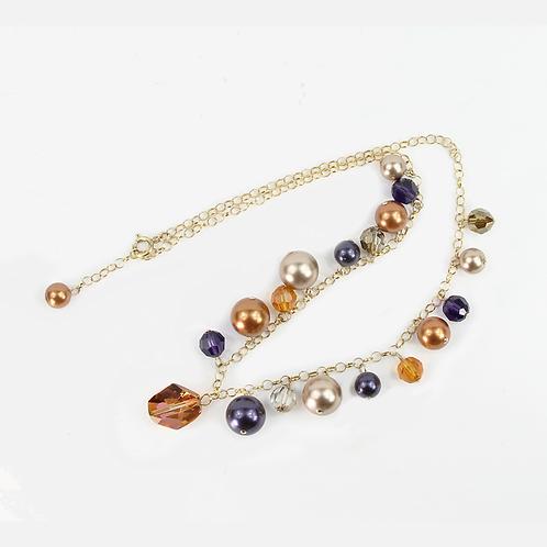 Blue Autumn Charm necklace