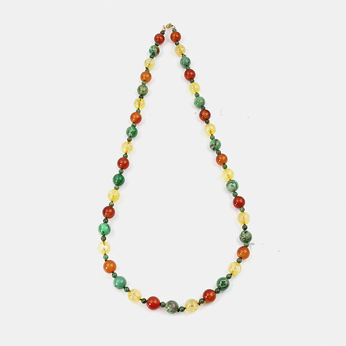 Natural Stones Autumn Leaf necklace