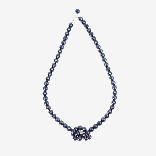 Cool & Bright Crystal Pearl Knot necklace - 19 colours
