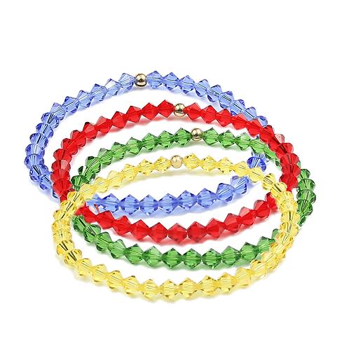 Spring crystal bracelet sets