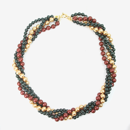 Swarovski Pearl Four Strand Necklace - Gucci Green