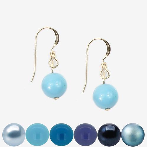 Blue Pearl Hook earrings