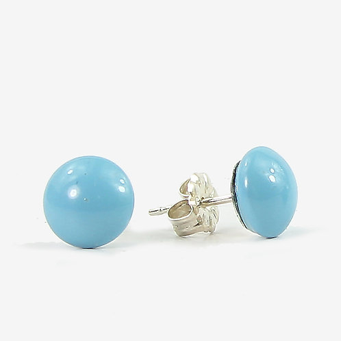 Crystal Pearl Stud earrings - Turquoise