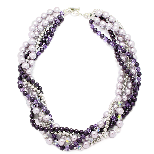 Classic Grape multi strand necklace