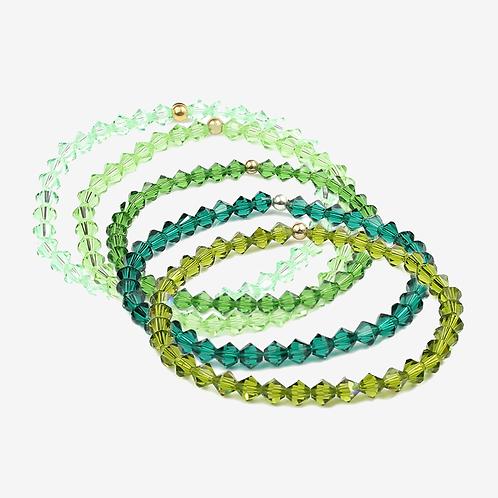 Crystal Bracelets - Greens