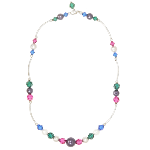 Winter Brights Curved Link necklace