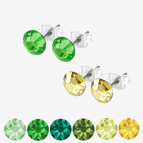 Green & Yellow Stud Earrings
