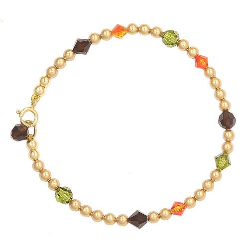 Autumn Leaf pearl bracelet