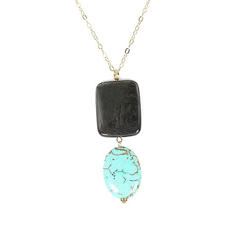 Hyperstone & Turquoise pendant