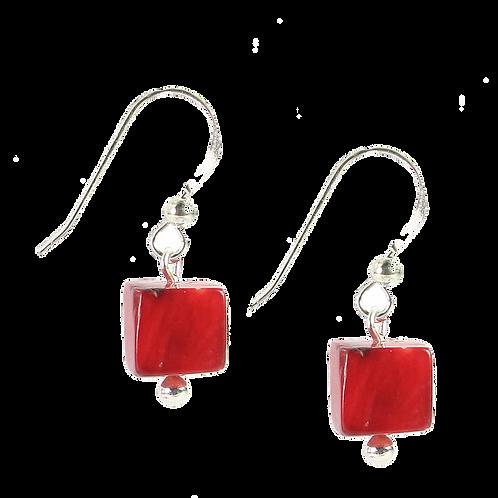 Sea Bamboo cube earrings