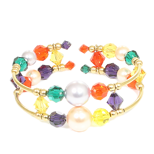 Vibrant Spring Adele Cuff bracelet