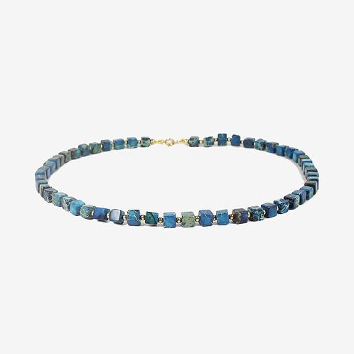 Dyed Jasper & 14K Gold-fill necklace