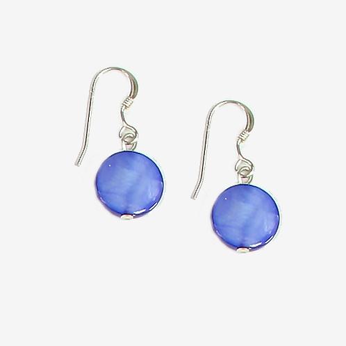 Royal Blue Mother of Pearl earrings