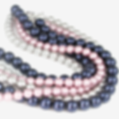 Summer Triple strand necklace closeup.pn