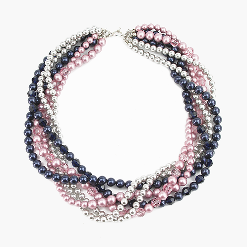 Crystal Pearl Multi-strand necklace