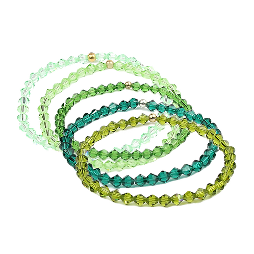 Crystal Bracelets - Greens