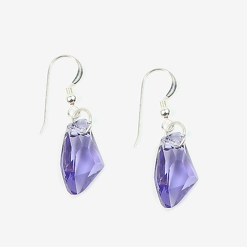 Swarovski Galactic Crystal earrings - Tanzanite