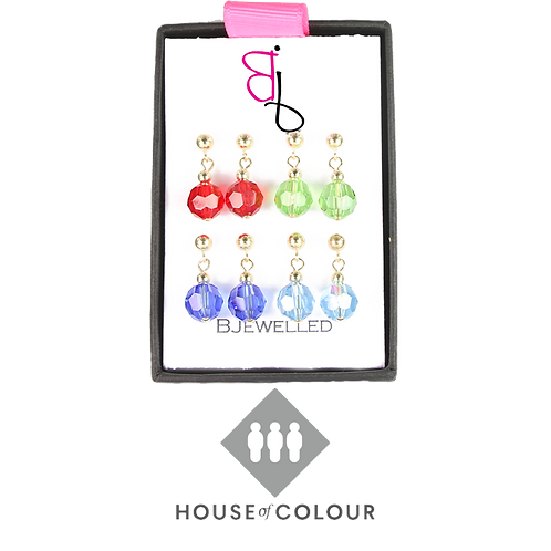 House of Colour Drop Earring Set - Spring