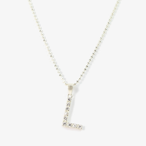 Sterling silver initial necklace  L