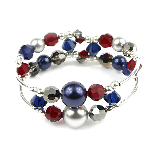 Dark Winter Blues Adele Cuff bracelet