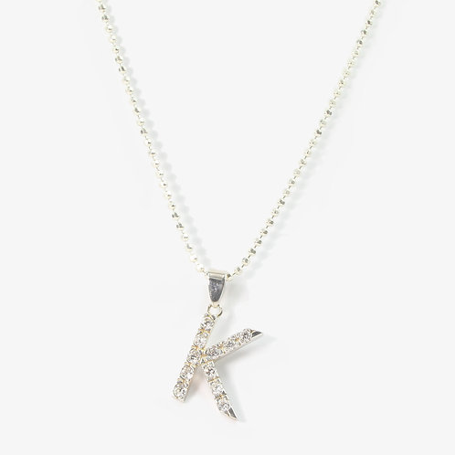 Sterling silver initial necklace  K