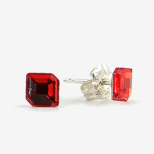Hexagon Swarovski Crystal stud earring