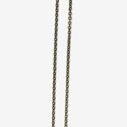 Antique brass chain 3 x 3.7mm